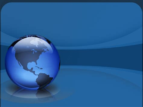 Powerpoint Templates World 3d blue globe powerpoint background wallpaper