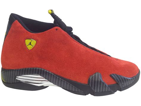 retro ferrari air jordan 14 xiv retro ferrari red suede