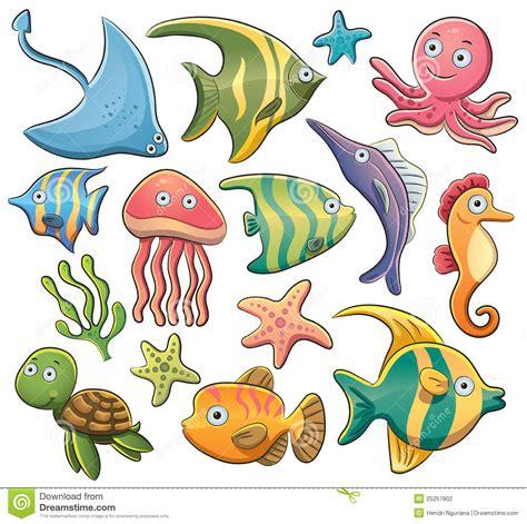 imagenes animales de mar animales de mar ilustraci 243 n del vector ilustraci 243 n de