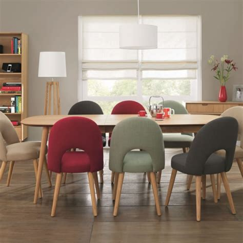 orbit oak extending retro dining table and chairs