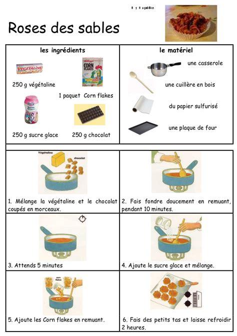 recette cuisine maternelle roses des sables recettes en images