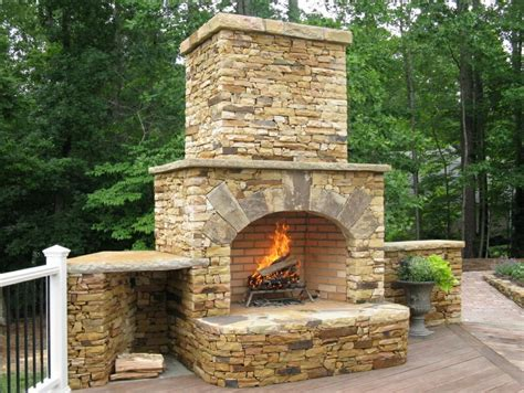 Outdoor Stone Fireplace | stone fireplaces natural stone fx