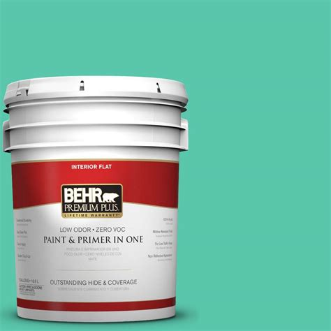 interior paint home depot behr premium plus 5 gal p430 4 kauai flat interior paint