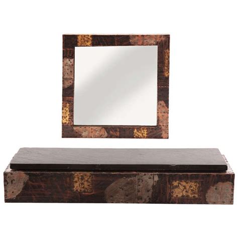 custom paul wall shelf and mirror for sale at 1stdibs