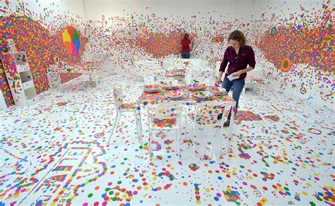 free interactive painting yayoi kusama birthday the polka dot of avant garde
