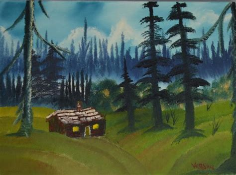 bob ross painting cabin bob ross the lonely cabin painting bob ross the lonely