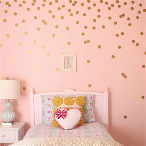 gold dot wall decals polka dots decal gold
