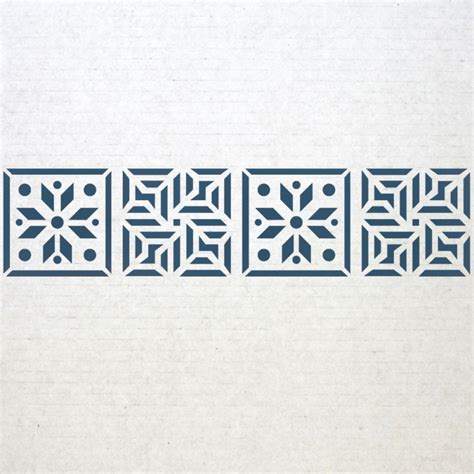 Wall Border stencils Pattern 019 Reusable Template for DIY