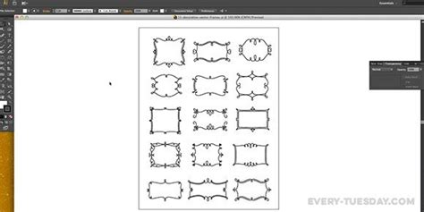 Frame Pattern Adobe Illustrator | how to create a vector decorative frame in illustrator