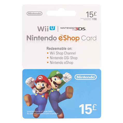 Nintendo Gift Card - nintendo 163 15 gift card at wilko com