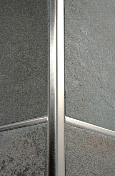 paraspigoli piastrelle projolly square in ottone cromato profilo per