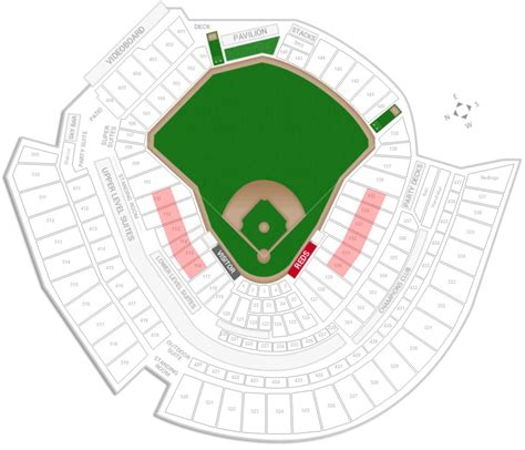 cincinnati reds seating chart with seat numbers great american ballpark seating chart with rows and seat