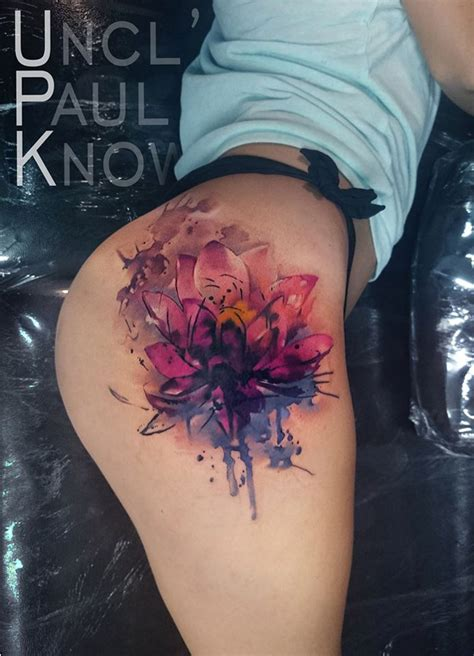 lotus tattoo on thigh lotus flower on girls hip best tattoo design ideas