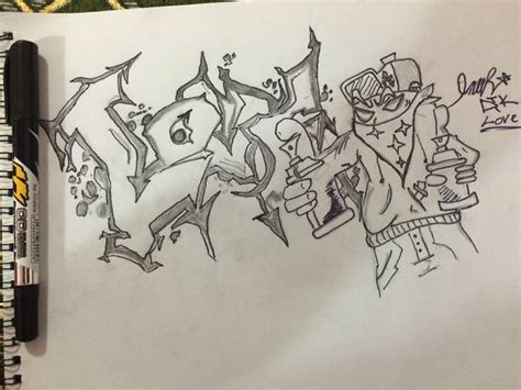 How To Draw Graffiti 3d Style