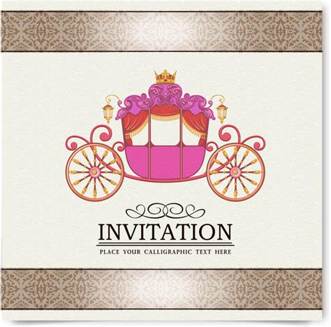 invitation illustrator template vintage invitation card decor free vector in adobe