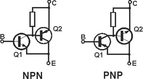 transistor darlington sziklai sziklai pair compound complementary radio electronics