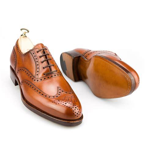 cognac oxford shoes wingtip oxford in cognac calf carmina