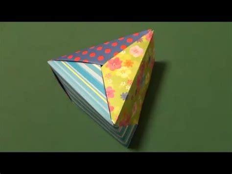 Origami Triangular Box - 三角の箱 折り紙 quot triangular box quot origami