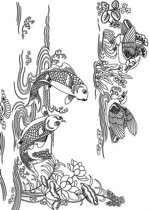 advanced coloring pages pinterest printable complicated fish coloring pages for adults