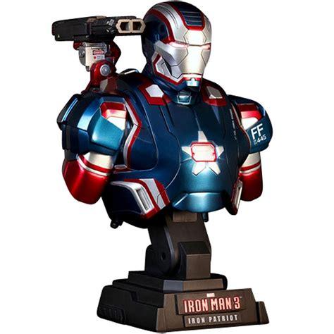 Ironman Figure Iron Patriot 1 toys iron 3 iron patriot 1 4 scale bust figure blue