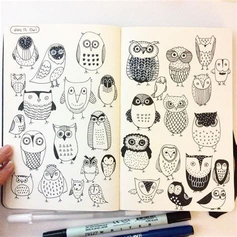 doodle make your diary 17 best ideas about owl sketch on owl drawings
