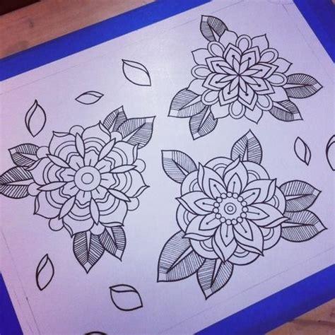 tattoo flash filler flower filler tattoo stencils pinterest