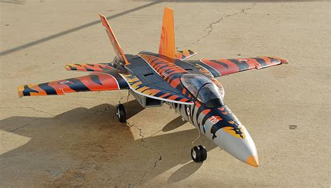 Pilot Jet Tiger No 38 f a 18e tiger electric ducted jet arf kit version almost ready to fly rc remote radio
