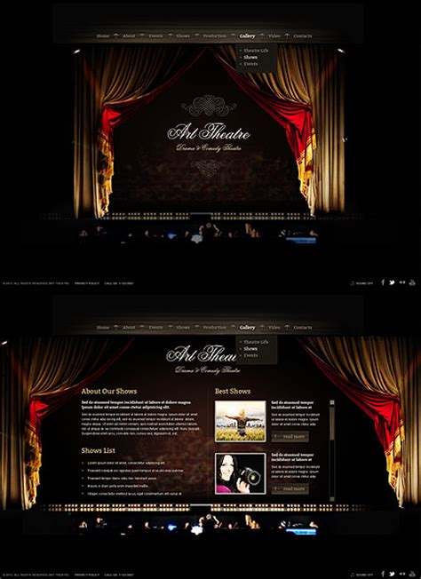 theater template theatre html5 template best website templates