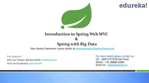 introduction to spring data ppt download webinar spring framework introduction to spring webmvc