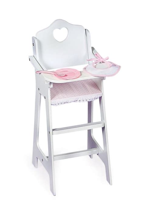 white wooden baby high chair baby doll high chair w feeding accressories pretend