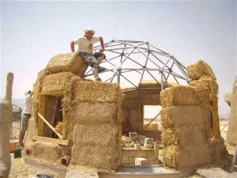 #5 how to build a geodesic strawbale dome placing the