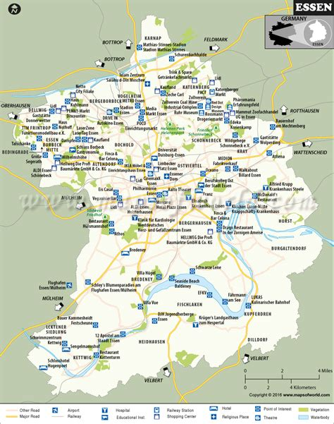 map of germany showing cities essen map city map of essen germany