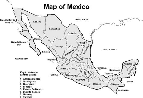 map of mexico printable printable map of mexico pictures to pin on