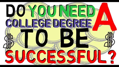 Do You Need A Bachleros Degree For An Mba by Do You Need A College Degree To Be Successful