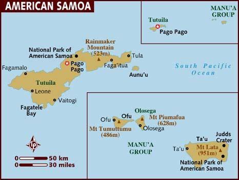 map of american samoa islands map of american samoa