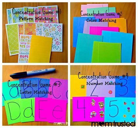 printable concentration games for kindergarten diy concentration preschool game s preschool activities