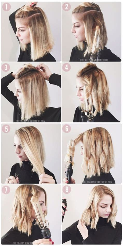 how to do wavy bob hair style penteados com long bob