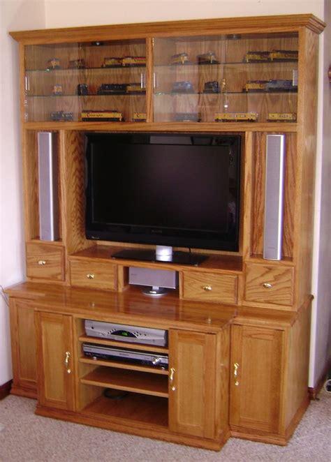 custom oak entertainment center  steves custom