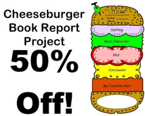hamburger book report template sandwich book report