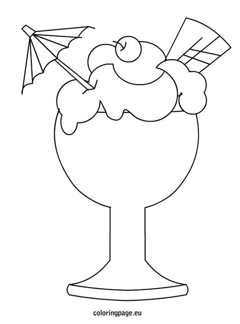 ice cream cup coloring pages ice cream coloring page