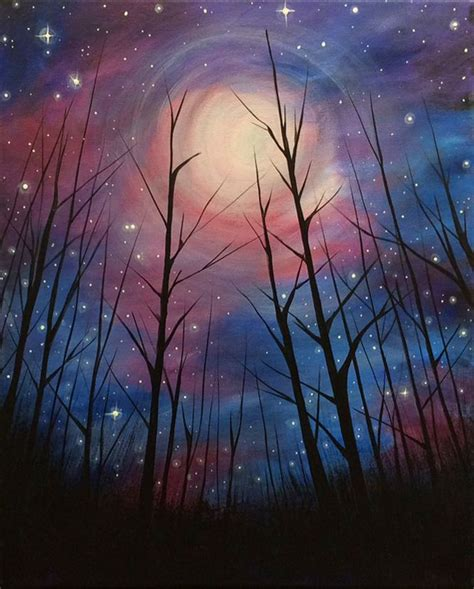 paint nite duration best 25 moon painting ideas on galaxy