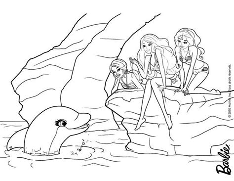 coloring pages of barbie and her friends dolfin and barbie s friends coloring pages hellokids com