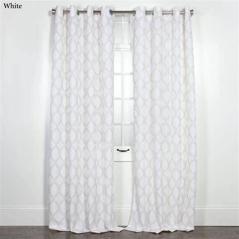 grommet curtain patterns minnie ogee pattern grommet curtain panels