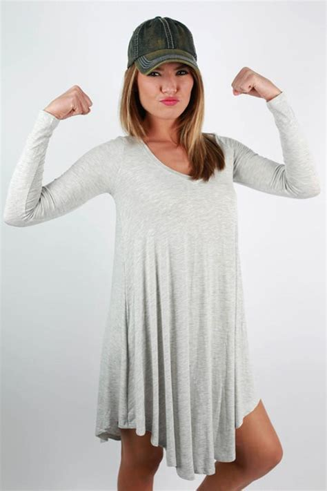 Grey Sweety Dress sweet for dress in grey impressions s clothing boutique