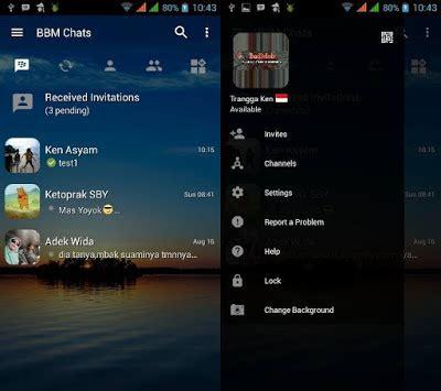 cara ganti wallpaper room chat line tilan bbm mod apk transparan
