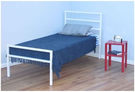 Three Quarter Bed Frame My Space Darby Three Quarter Metal Bed Frame Beds