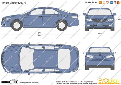 toyota camry 2007 dimensions the blueprints vector drawing toyota camry