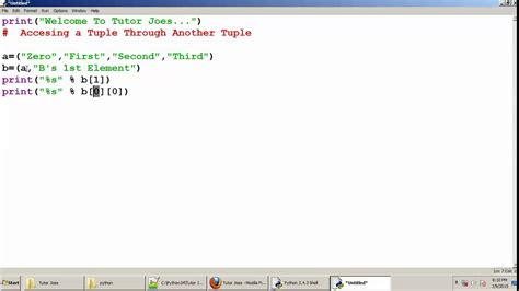 python tutorial tamil python tutorial accessing a tuple through another tuple