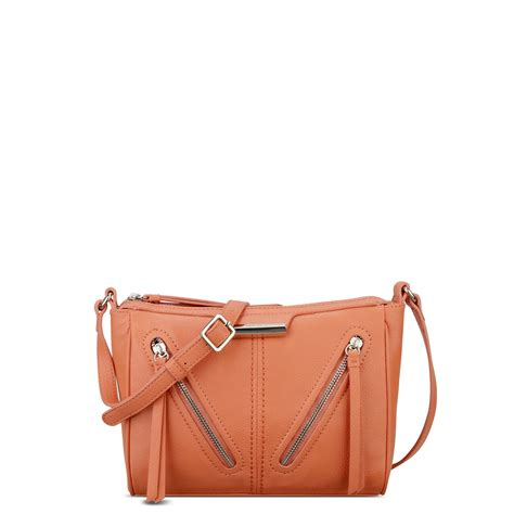nine west just zip it crossbody bag in orange lyst