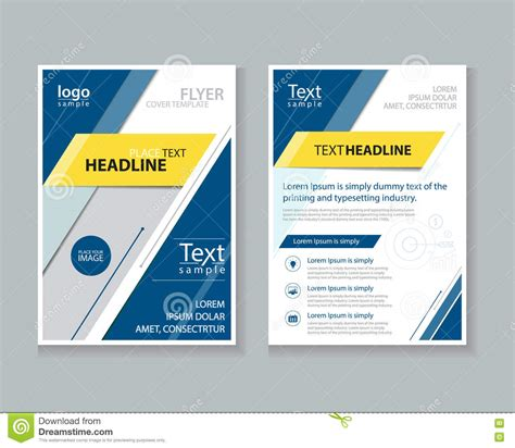 business report layout design brochure flyer report layout design template stock